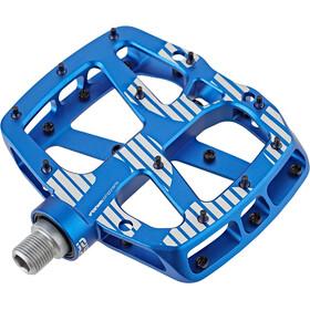 e*thirteen Plus Flat Pedals 22 Pins blau